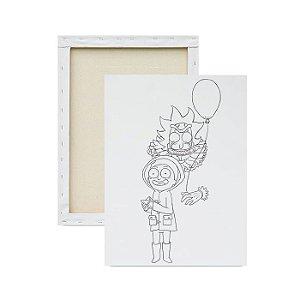 Tela para pintura infantil - Ricky, Morty e o Balão