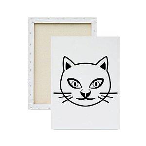 Tela para pintura infantil - Rosto Felino