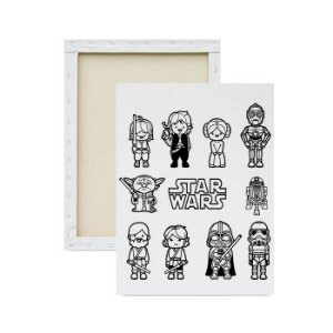 Tela para pintura infantil - Star Wars em Desenho