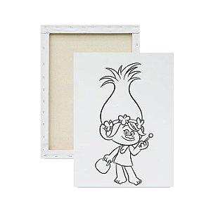 Tela para pintura infantil - Trolls
