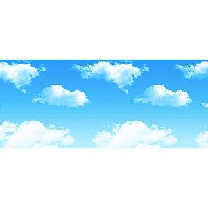 Painel de Festa em Tecido Sublimado 3d Nuvens