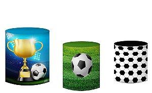 Kit Capas de Cilindro de festa em tecido sublimado Bola de Futebol