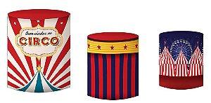 Kit Capas de Cilindro de festa em tecido sublimado Circo