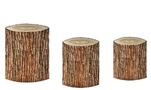Kit Capas de Cilindro de festa em tecido sublimado Tronco de Árvore mod3