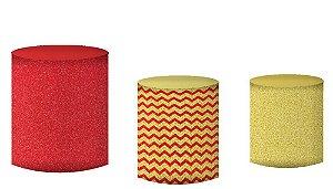 Kit Capas de Cilindro de festa em tecido sublimado Natal Mod2