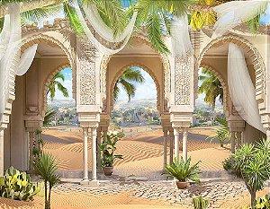 Painel de Festa em Tecido Sublimado 3d Arcos Orientais