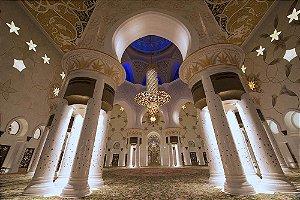 Painel de Festa em Tecido Sublimado 3d Arcos Abu Dhabi