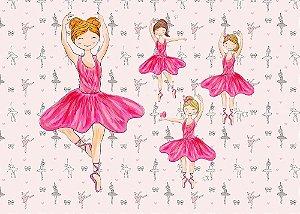 Painel de Festa em Tecido Sublimado 3d Lindas Bailarinas