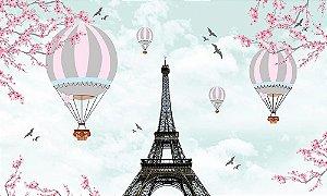 Painel de Festa em Tecido Sublimado 3d Balões em Paris