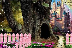 Painel de Festa em Tecido Sublimado 3d Caminho do Castelo