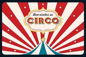 Painel de Festa em Tecido Sublimado 3d Circo Vintage