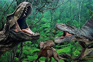 Painel de Festa em Tecido Sublimado 3d Parque dos Dinossauros