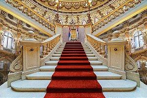 Painel de Festa em Tecido Sublimado 3d Escadaria do Palácio