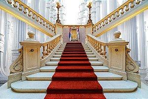 Painel de Festa em Tecido Sublimado 3d Escadaria Palácio Grego