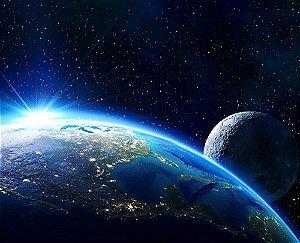 Painel de Festa em Tecido Sublimado 3d Planeta Terra
