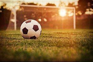 Painel de Festa em Tecido Sublimado 3d Futebol