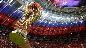 Painel de Festa em Tecido Sublimado 3d Taça Copa do Mundo de Futebol
