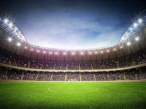 Painel de Festa em Tecido Sublimado 3d Estádio de Futebol Mod3
