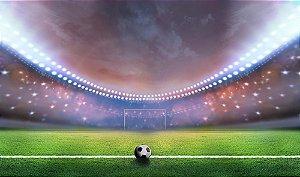 Painel de Festa em Tecido Sublimado 3d Estádio de Futebol Mod6