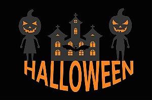 Painel de Festa em Tecido Sublimado 3d Halloween Noite