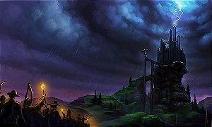 Painel de Festa em Tecido Sublimado 3d Halloween Mod3