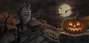 Painel de Festa em Tecido Sublimado 3d Halloween Mod4