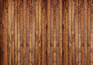 Painel de Festa em Tecido Sublimado 3d Deck de Madeira