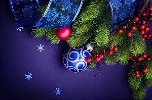 Painel de Festa em Tecido Sublimado Lacinho de Natal