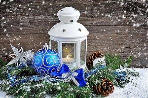 Painel de Festa em Tecido Sublimado Lindos Enfeites de Natal