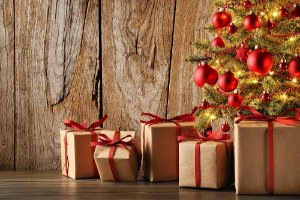 Painel de Festa em Tecido Sublimado Presentinhos de Natal