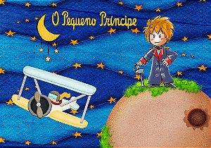 Painel de Festa em Tecido Sublimado 3d Pequeno Príncipe mod3