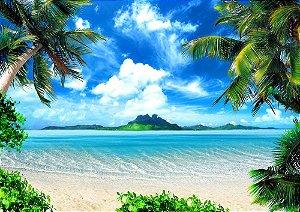Painel de Festa em Tecido Sublimado 3d Praia