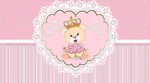 Painel de Festa em Tecido Sublimado 3d Ursinha Princesa