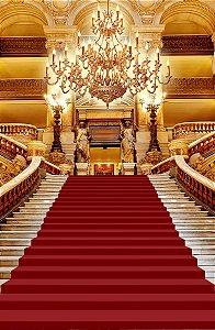 Fundo Fotográfico em Tecido Sublimado Escadaria Realeza Tapete