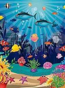 Fundo Fotográfico em Tecido Sublimado Fundo do Mar