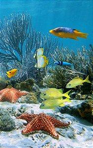 Fundo Fotográfico em Tecido Sublimado Peixinhos do Fundo do Mar