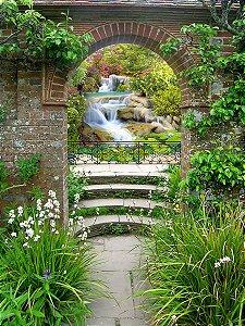 Fundo Fotográfico em Tecido Sublimado Arco no Jardim