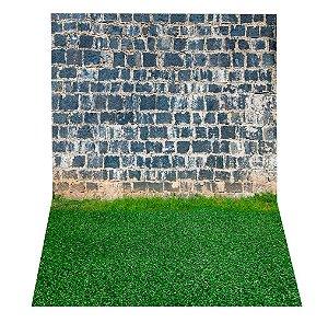 Fundo Fotográfico em Tecido Sublimado Muro de Pedra Antiga