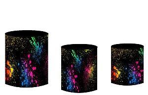 Kit Capas de Cilindro de festa em tecido sublimado Neon