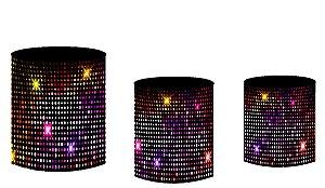 Kit Capas de Cilindro de festa em tecido sublimado Show Neon