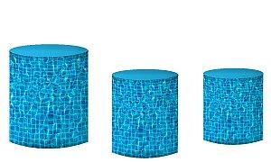 Kit Capas de Cilindro de festa em tecido sublimado Pool Party