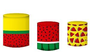Kit Capas de Cilindro de festa em tecido sublimado Melancias