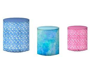 Kit Capas de Cilindro de festa em tecido sublimado Unicórnio Universo