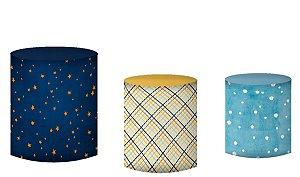Kit Capas de Cilindro de festa em tecido sublimado Príncipe Estrelas