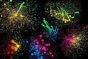 Painel de Festa em Tecido Sublimado 3d Fundo Neon