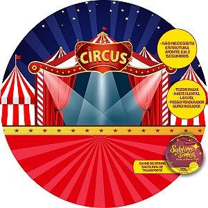 Painel De Festa Tecido Sublimado Abre Fácil Circo Holofote 1,55m