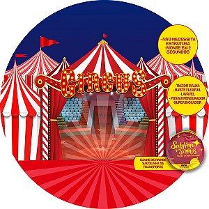 Painel De Festa Tecido Sublimado Abre Fácil Circo com Picadeiro 1,55m