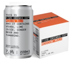 F!VE DRINKS CO. - MOSCOW MULE - 4 UND 220ML