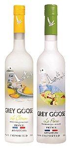 Kit 2 Grey Goose Flavors: La Poire + Le Citron - 750ML