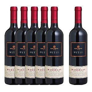 Kit 5 Vinhos Casa Perini Vitis Marselan e Ganhe + 1 Vitis Marselan - 750ml
